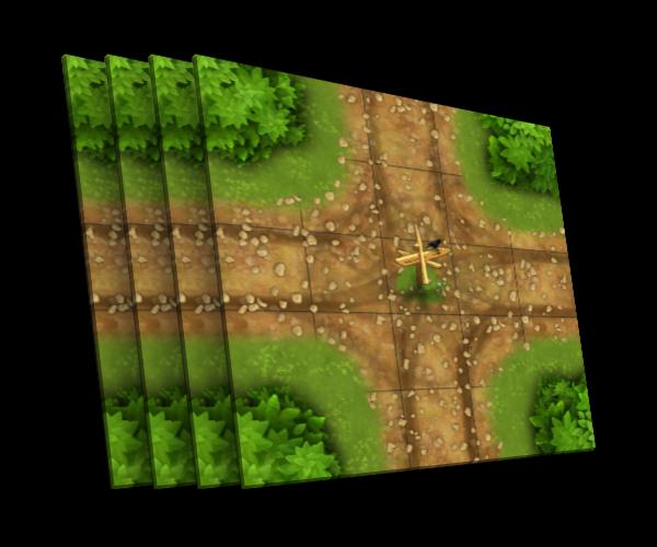 4 karty [X] - skrzyżowanie z drogowskazem