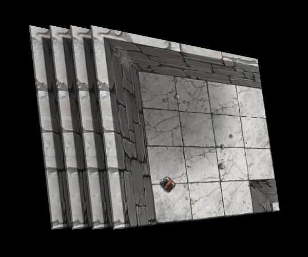 4 karty [L] zakrętu podziemnego korytarza