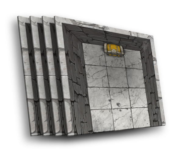 4 karty [U] ślepa uliczka korytarza