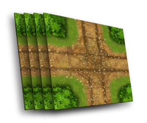 4 cards [X] - an intersection without a signpost