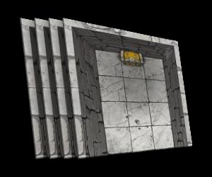 4 cards [U] dead end of the corridor