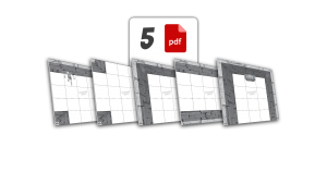 5 plików PDF | wersja monochromatyczna | 300 dpi | ze znakiem wodnym