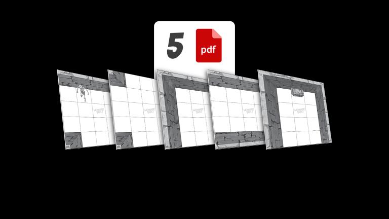 5 tiles economy printing monochrome 300 DPI .pdf watermarked for print