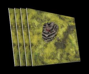 4 karty z terenem trudno dostępnych skał