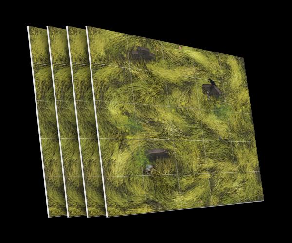 4 karty z kamiennymi nagrobkami