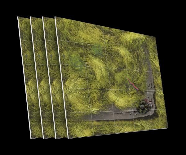4 karty ze skalną półką